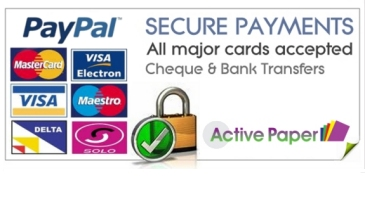 Secure payment by Paypal or Cheque / Bank Transfer