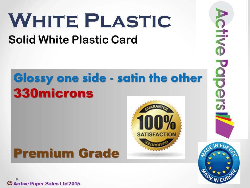 Solid White Plastic Card 380mic