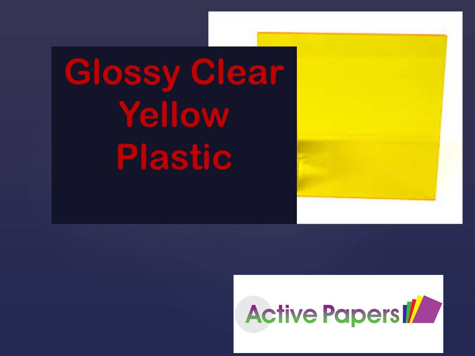 Clear Yellow Plastic