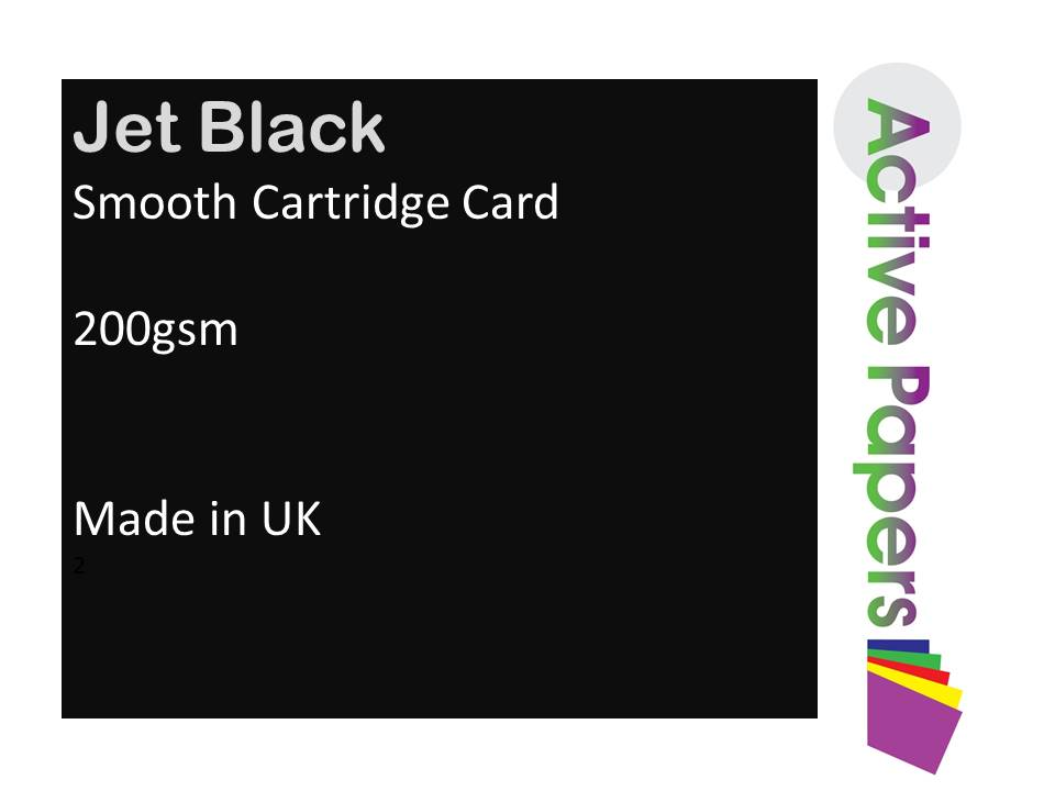 Smooth Black Card 200gsm