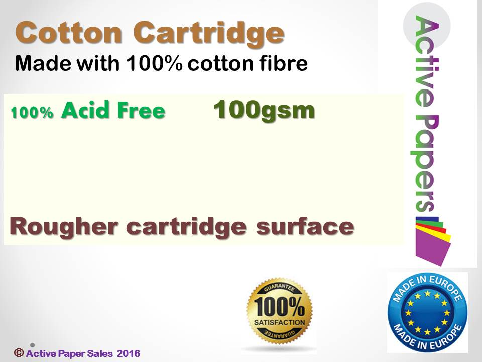 Pure Cotton Cartridge Paper 100gsm