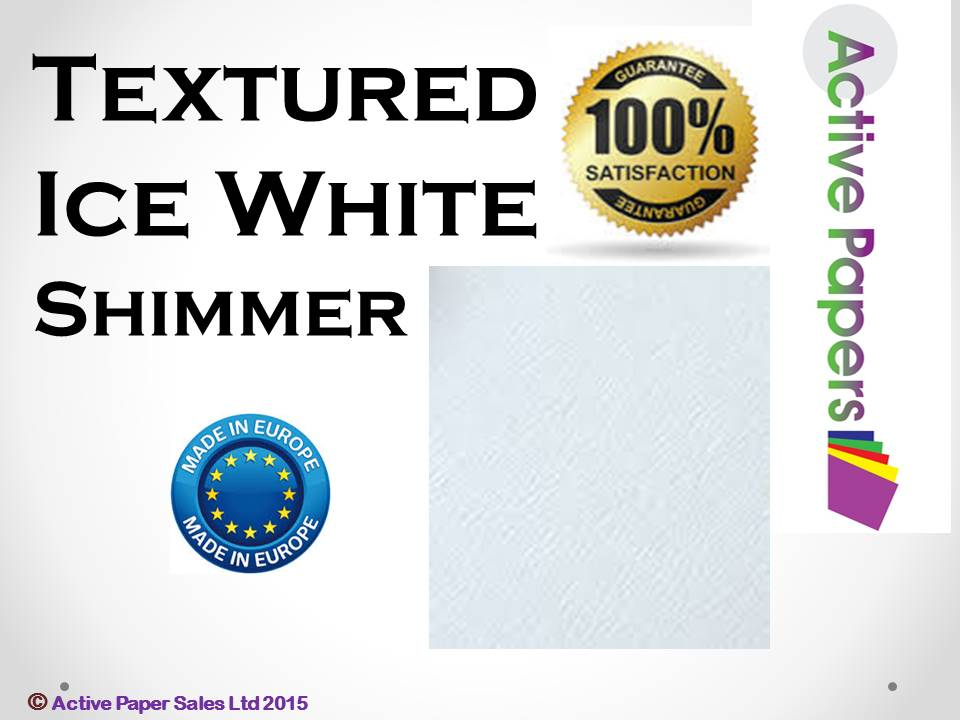 Ice White Silver Textured 170gsm