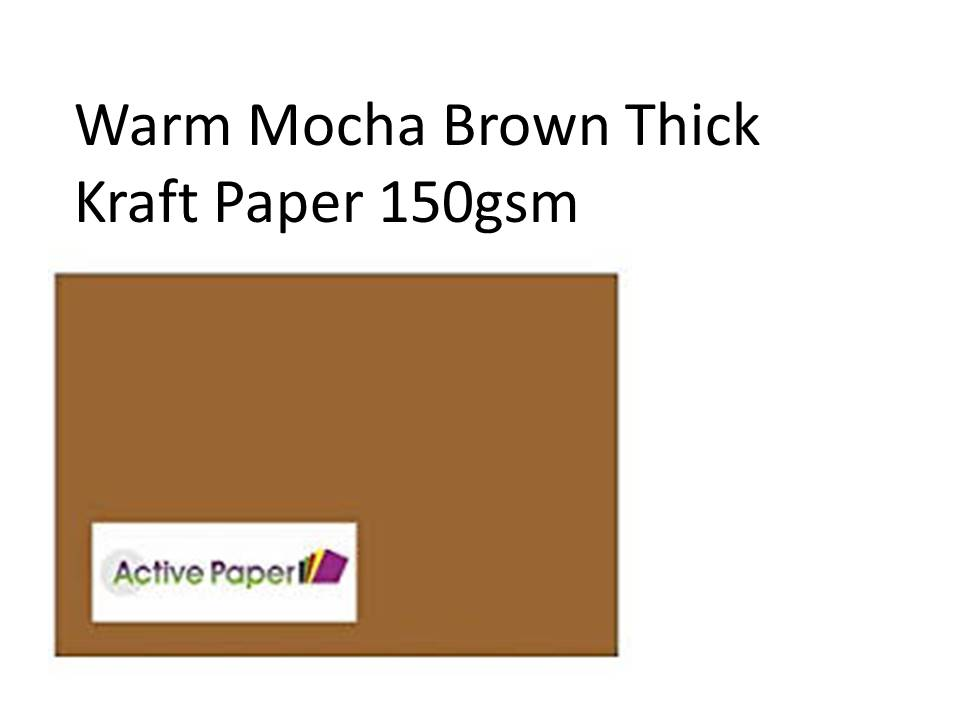 Mocha Brown Kraft 150gsm 50 sheets