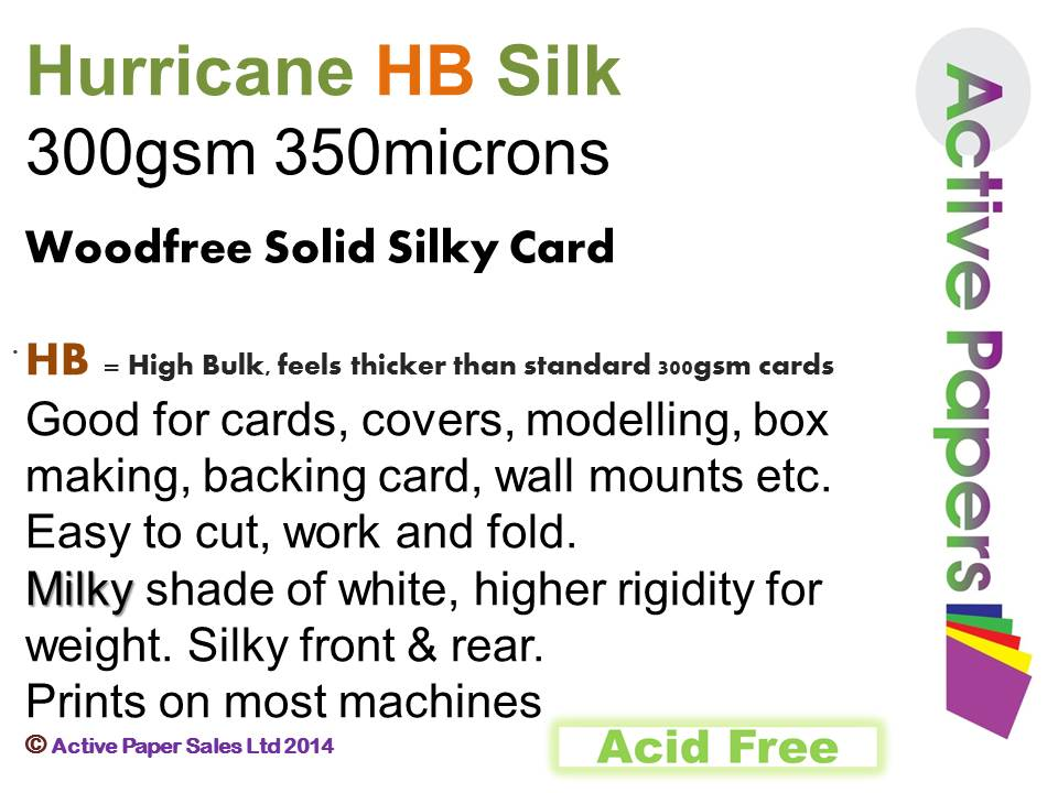 Hurricane Silk 300gsm 12x24 30 sheets