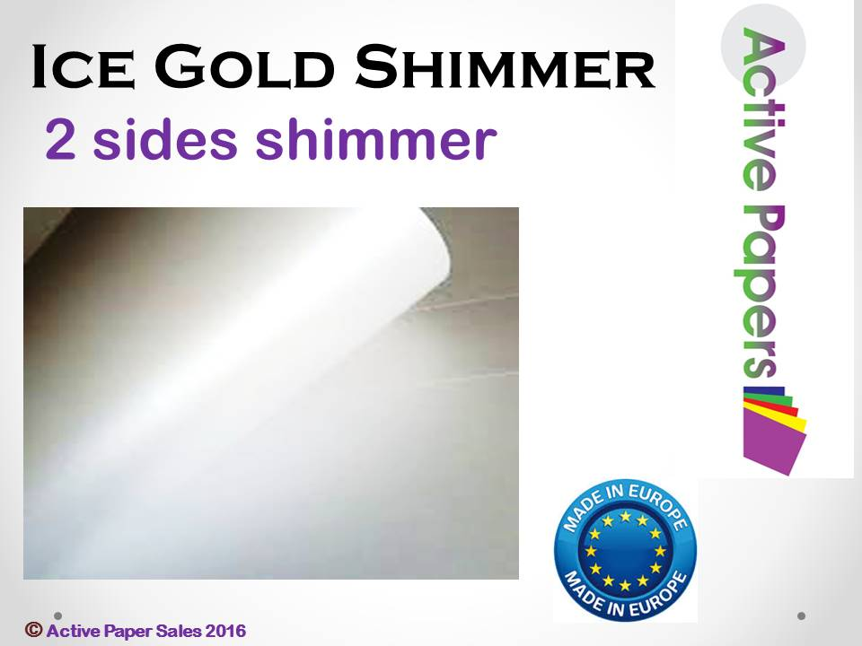 Ice White Gold Shimmer 120gsm