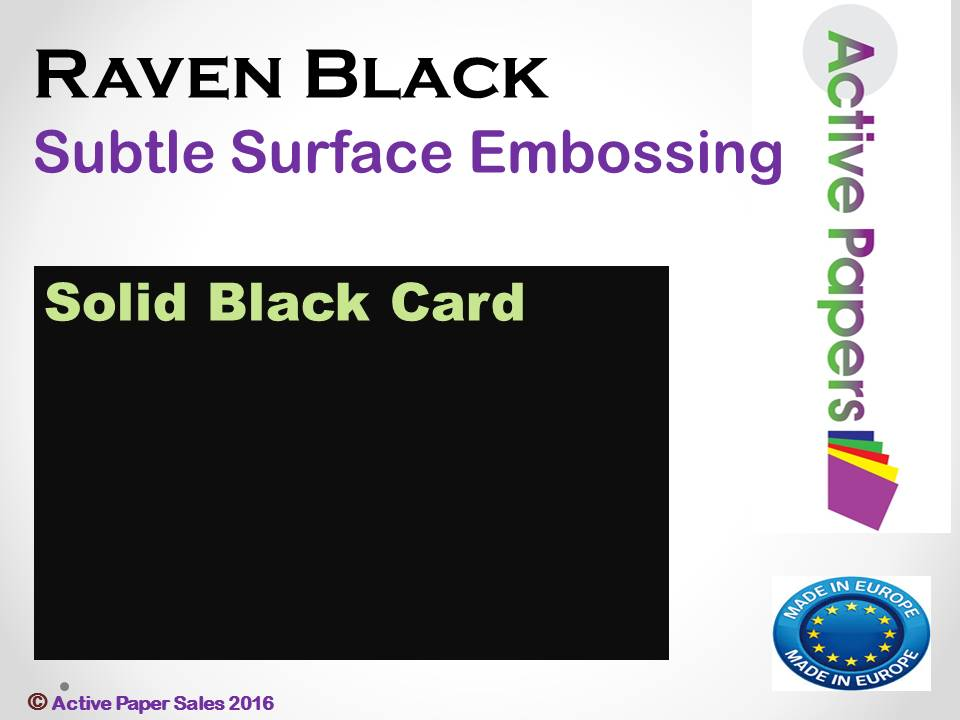 Raven Black Textured  400gsm A1+ 10 sheets