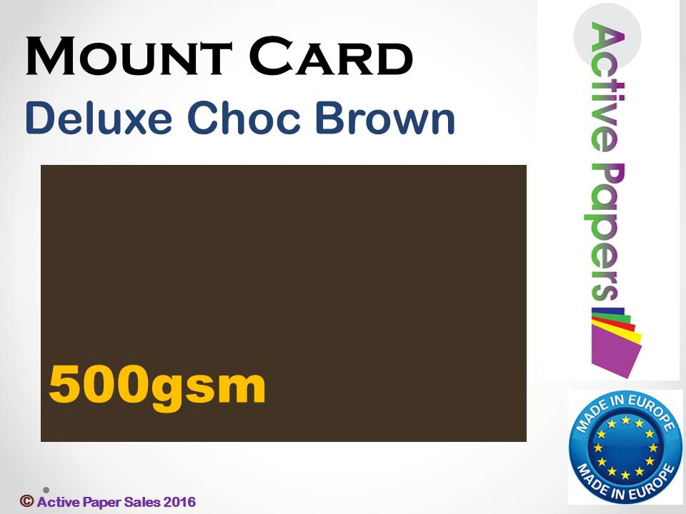 Chocolate Brown Mount 500gsm