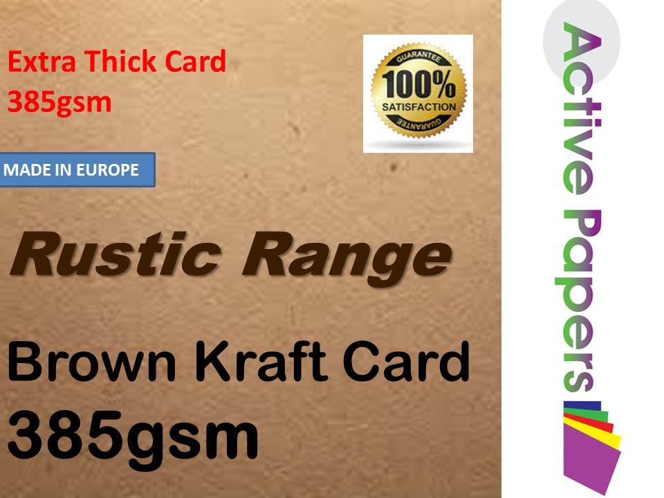 Thick Brown Kraft Card 385gsm A6 100sheets