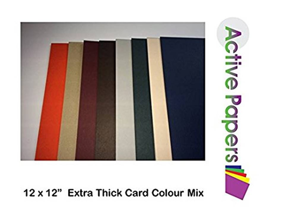 Mixed Coloured Extra Thick Card 12x12 40 sheets