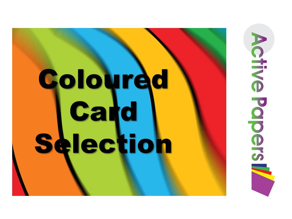 Mixed Coloured Thick Card A4 250- 300gsm 100 sheets