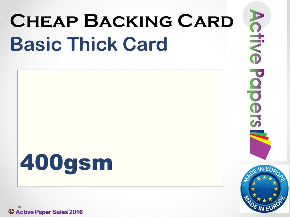 Basic Baking Card 400gsm