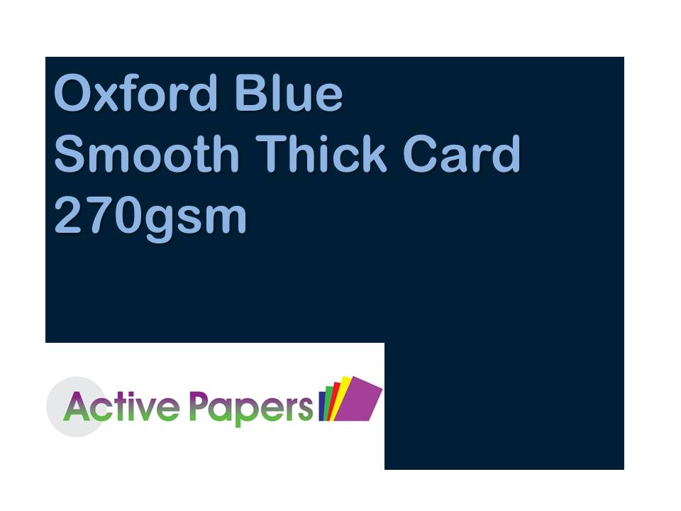 Oxford Blue Card 270gsm 12x24 30 sheets