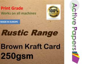 Brown Kraft Card 250gsm 12x24 30 sheets