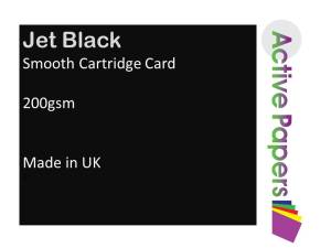 Smooth Black Card 200gsm A1 20 sheets