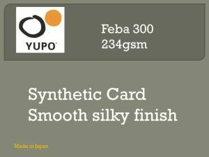 Yupo Synthetic