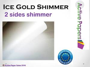 Ice White Gold Shimmer 300gsm A4 50 sheets