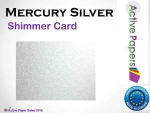 Mercury Silver Shimmer Card 400gsm