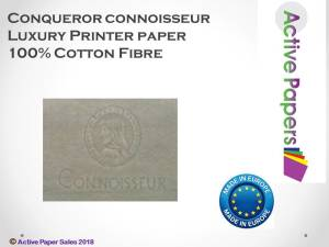 CONQUEROR CONNOISSEUR 100% COTTON Wove 110gsm