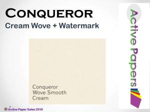 Conqueror Cream Wove 100gsm + watermarked