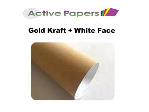 Golden Kraft + White Face A4 250gsm 50 sheets