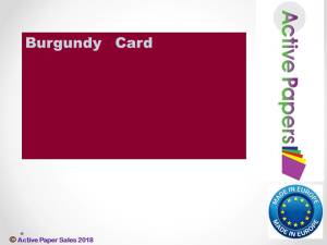 Burgundy Smooth Card 300gsm