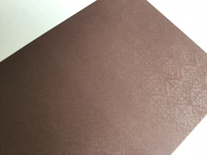 Brown Embossed Card 300gsm 10 sheets