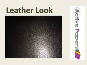 Black Leather Grain Look 140gsm Gloss Polish