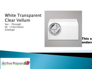Vellum translucent envelopes DL 112gsm 50 envelopes