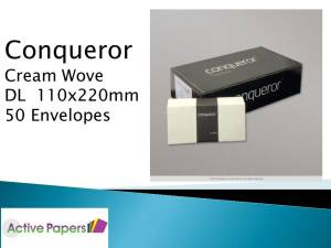 Conqueror Cream Wove DL Envelopes