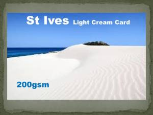St Ives Light Cream Smooth Matt Card 200gsm