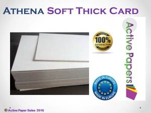 Athena Thick Cream Backing Card 1200microns A5