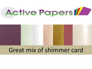 Pearlescent Shimmer Card Range A5 20 sheets