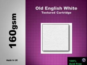 White Textured Cartridge 160gsm