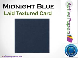 Dark Blue Textured Laid 240gsm 12x12 10 sheets