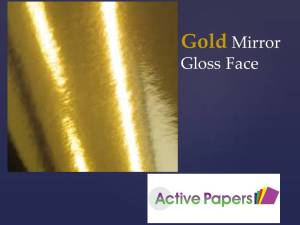 GOLD Mirror Card 12x12 250gsm