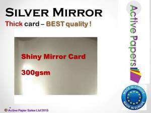 Silver Mirror Card 300gsm - Seconds