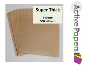 Thick Brown Kraft Card 500gsm 12x12 or 12x24
