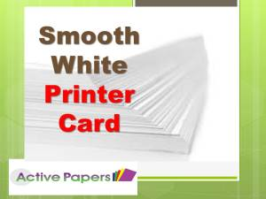 Smooth White Matt 12x6 inches 250gsm 50 sheets