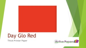 Dayglo Red Fluorescent Thick Paper 130gsm