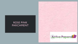Rose Pink Parchment Card 220gsm