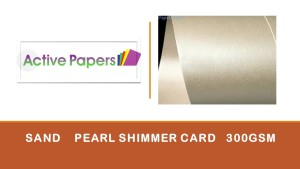 Sand Pearlescent Card 300gsm 10 sheets