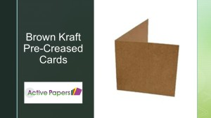 10x7 inch Brown Kraft Cards 300gsm