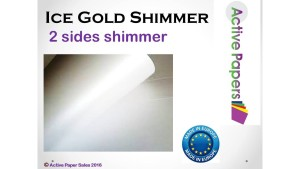 Ice White Gold Shimmer 120gsm 12x12 & 12x24