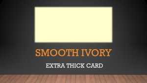 Luxury Smooth Ivory Card 400gsm