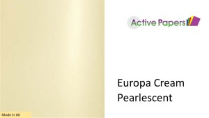 Cream Shimmer Pearlescent 120gsm