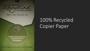 100% Recycled Copier Paper A4 80gsm