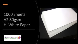 500 sheets A2 80gsm Hi White Paper