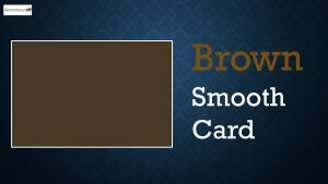 Brown Smooth Card 300gsm 12x24inch