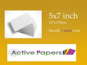 5 x 7 1 Sided Smooth Card 350gsm