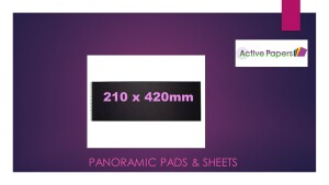 Panoramic Pads & Sheets Alcohol ink Grades 210x420mm